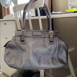 Kate spade silver over the shoulder purse